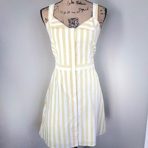 Wayf Bolton Fit and Flare Dress Yellow